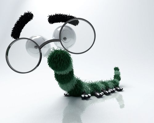 Cute-Animals-Image-Funny-Bug-Thin-and-Long-Body-Big-Glasses-Seem-As-If-Smiling